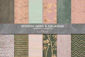 Spanish Moss & Calamine Gold Pattern