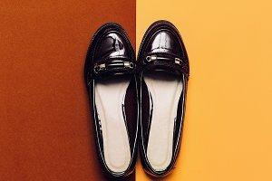 Burgundy Fashion Autumn season shoes