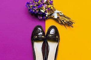 Fashionable women's shoes.