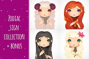 Zodiac signs collection +bonus