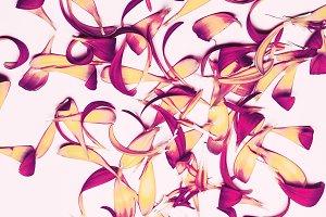 petals. Minimalism art