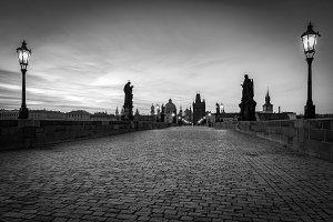 Prague in black and white.