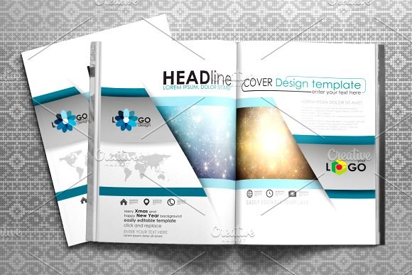 Flat design templates v.3 - Brochures