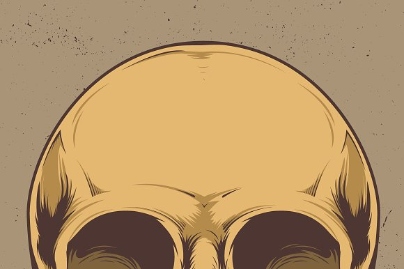 Skull Vector Illustration in Illustrations - product preview 1