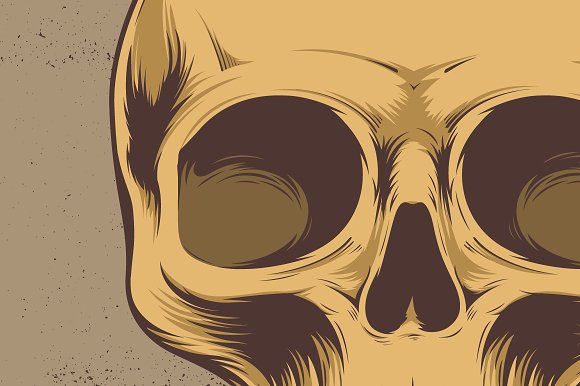 Skull Vector Illustration in Illustrations - product preview 2
