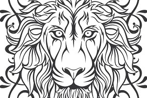 Lion Vector + frame
