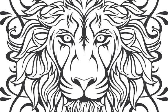 Lion Vector Frame Illustrations Creative Market