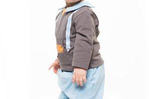 Cute baby kid standing