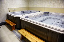 Jacuzzi bath at the hotel