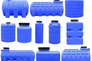 Industrial plastic storage container