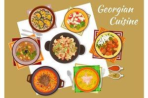 Georgian cuisine menu dishes
