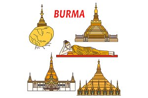 Ancient buddhist temples of Burma