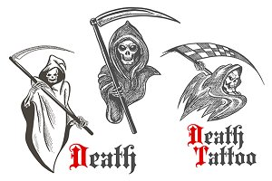 Horrifying grim reapers sketches