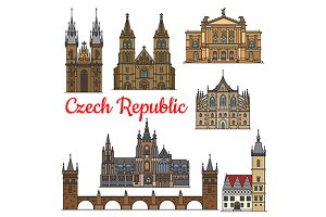 Travel landmarks of Czech Republic