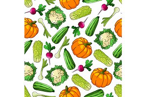 Veggies seamless pattern