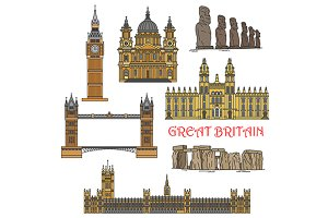 Great Britain and Chile landmarks