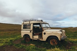 Old 4x4 car left behind in Iceland