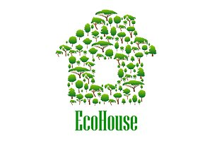 Eco house conceptual icon