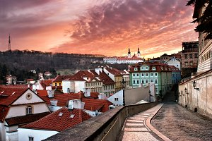 Panorama of the Old Town in Prague