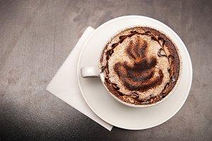 cappuccino coffe cup