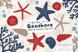 Seashells Clipart in Americana