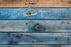 Weathered wooden slats