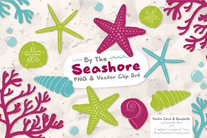 Seashells Clipart in Bohemian
