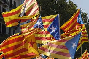 Catalan secessionist flags