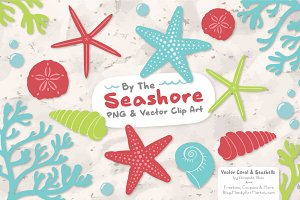 Seashells Clipart in Fresh