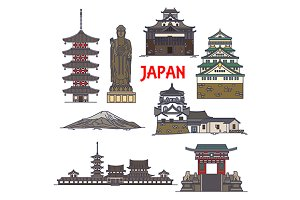 Japanese travel landmarks