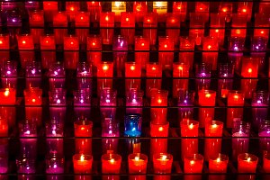 Candles in a sanctuary