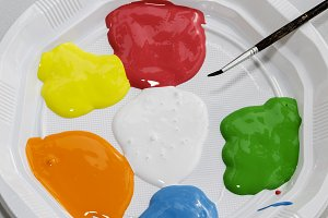Color paints for children crafts