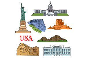 USA travel landmarks
