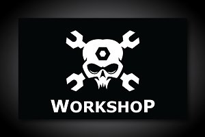 Workshop Skull Logo Template