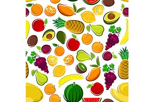 Pattern of sweet fruits