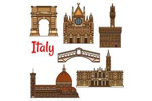 Italian historical travel sights