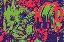 K.O Figth Illustration
