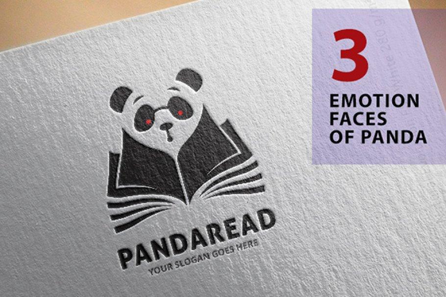 Panda Read a book Logo ~ Logo Templates ~ Creative Market