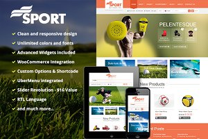 SW Sport - Responsive WordPress Them