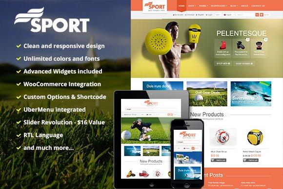 SW Sport - Responsive WordPress Them