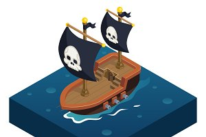 Isometric pirate