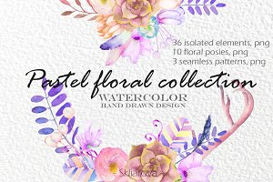 Pastel floral collection