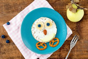 Food art breakfast for children