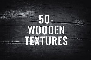 50+ Wood Textures & Backgrounds Pack