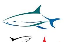Vector illustration of shark.