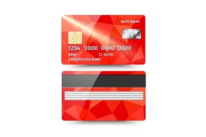 Realistic detailed credit card