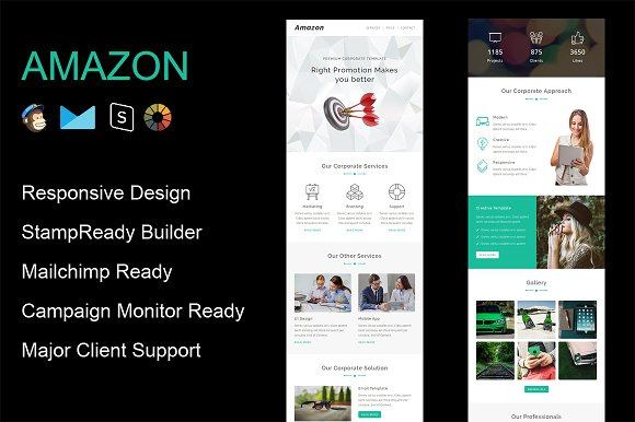amazon responsive email template email templates on creative