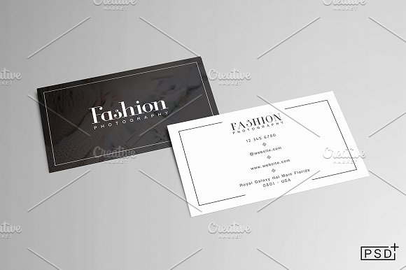 Fashion business card business card templates creative market colourmoves Image collections