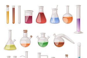Chemical laboratory vector lab flask