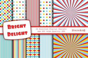 Bright Delight Digital Paper 12 x 12